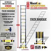 Echelle télescopique - Escabeau télescopique Woerther - 2m à 6m - Garantie 5 ans 99 Balan (08)