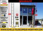Echelles - escabeaus télescopiques pliantes Woerther de 2m à 6m - Garantie 5 ans  99 Annonay (07)
