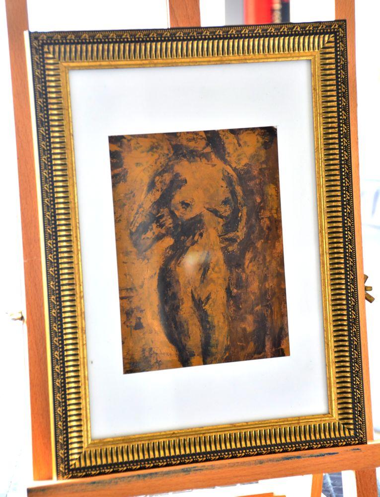 l'écorce nue - tempera - 13x18cm - encadré 49 Versailles (78)