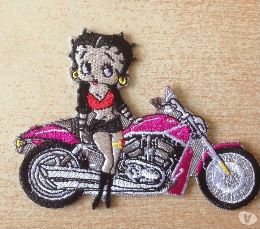 Écusson brodé betty boop lady biker 9,5x7cm n°2 5 Carnon Plage (34)
