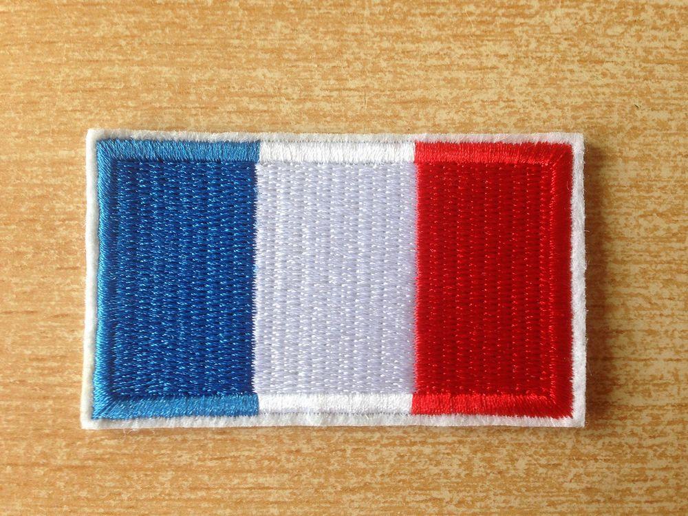 écusson brodé drapeau francais france 6,5x4 cm 4 Carnon Plage (34)