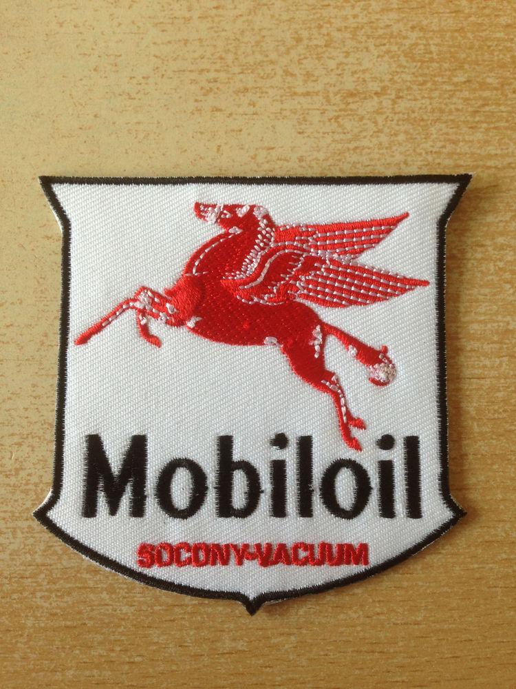 écusson brodé mobil mobiloil socony vacuum 8x7 cm 4 Carnon Plage (34)