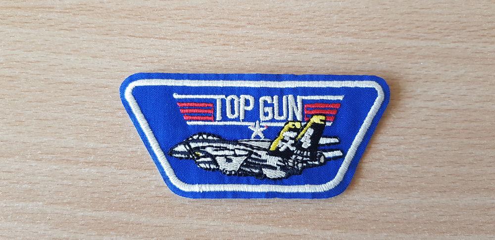 écusson brodé  top gun F-14 tomcat  8,5x4 cm thermocollant 4 Carnon Plage (34)