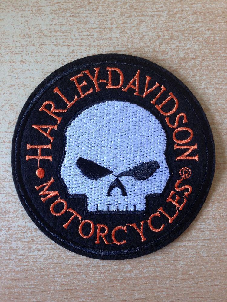 Écusson hd harley davidson tête de mort n°1 5 Carnon Plage (34)