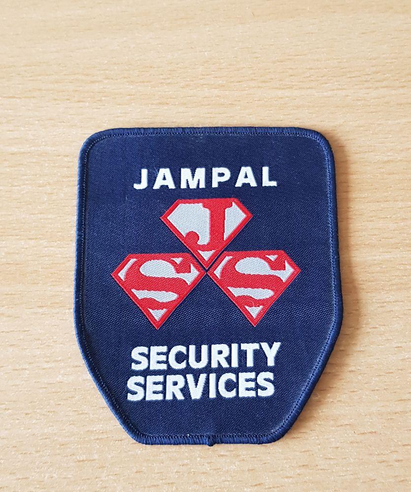 ecusson en tissu Jampal security services 9,5x8 cm à coudre  4 Carnon Plage (34)