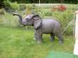 elephant en resine et fibres de verre