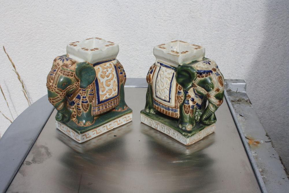 lot de 2 elephants en ceramique 15 La Verdière (83)