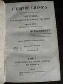 L'EMPIRE CHINOIS FAISANT SUITE A L'OUVRAGE  . par M.HUC 1862 58 Tours (37)