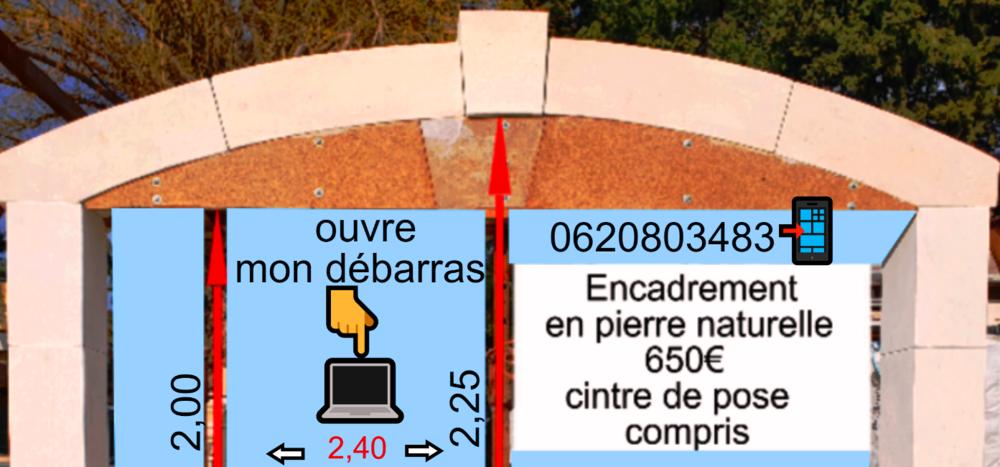 ENCADREMENT EN PIERRE NATURELLE et AUTRES 0 Beaucaire (30)