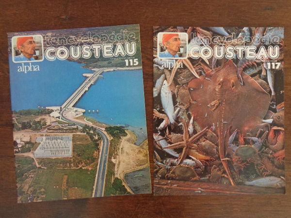 encyclopédie COUSTEAU ,140 bulletins de 12 feuillets 60 Ondres (40)