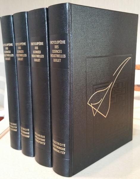 Encyclopédie des Sciences industrielles Quillet 4 volumes 80 Sanguinet (40)