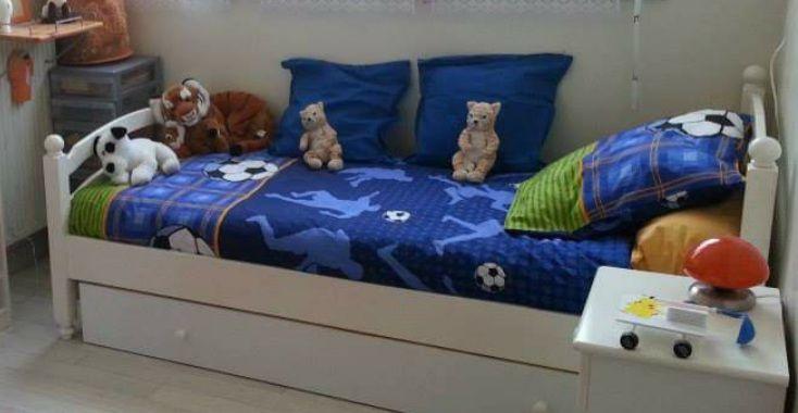 lit enfant blanc avec matelas et tiroir 150 Tours (37)