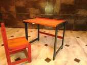 Enfant bureau chaise bois couleurs bon état 49 Versailles (78)