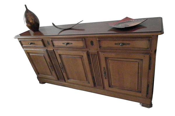 enfilade 3 portes et 3 tiroirs en aulne meubles - Enfilade 3 Portes