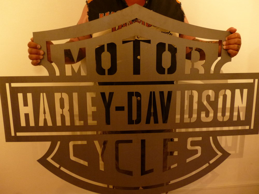 Enseigne métallique Harley Davidson Décoration