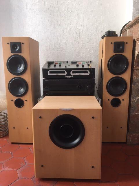 Ensemble audio : Enceintes et caisson CABASSE / Ampli YAMAHA 500 Sète (34)