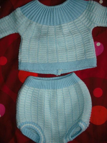 ensemble bébé bleu  1 euro 1 Cramont (80)