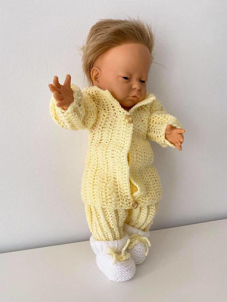 Ensemble bébé : gilet veste / pantalon sarouel / chausson 17 Marseille 8 (13)