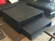 ensemble bibliothèque meuble télé et double table basse bois Meubles