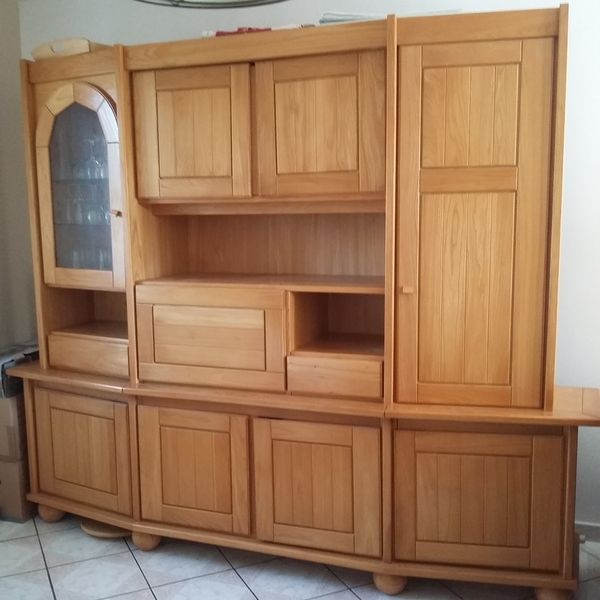 meuble tv hetre massif maison design. Black Bedroom Furniture Sets. Home Design Ideas