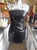 ensemble bustier et jupe sequins noir brillant NEUF DIVIDCD  12 Lyon 5 (69)