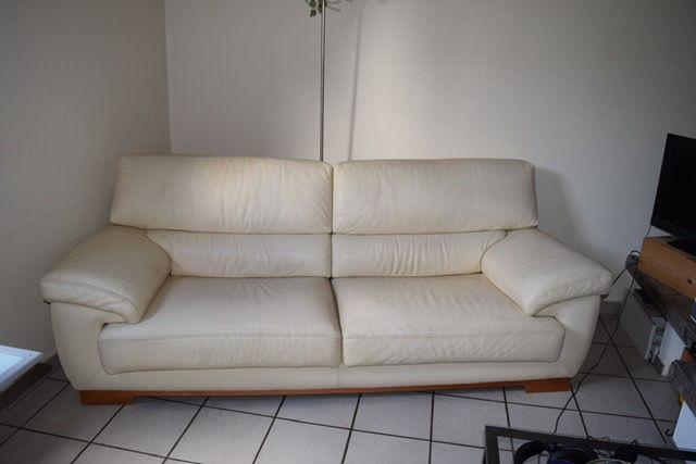 Ensemble canapé cuir 3 places plus fauteuil 500 Villenave-d'Ornon (33)