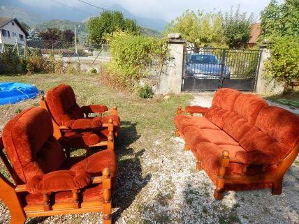 Ensemble canapé + 2 fauteuils  150 Chapareillan (38)