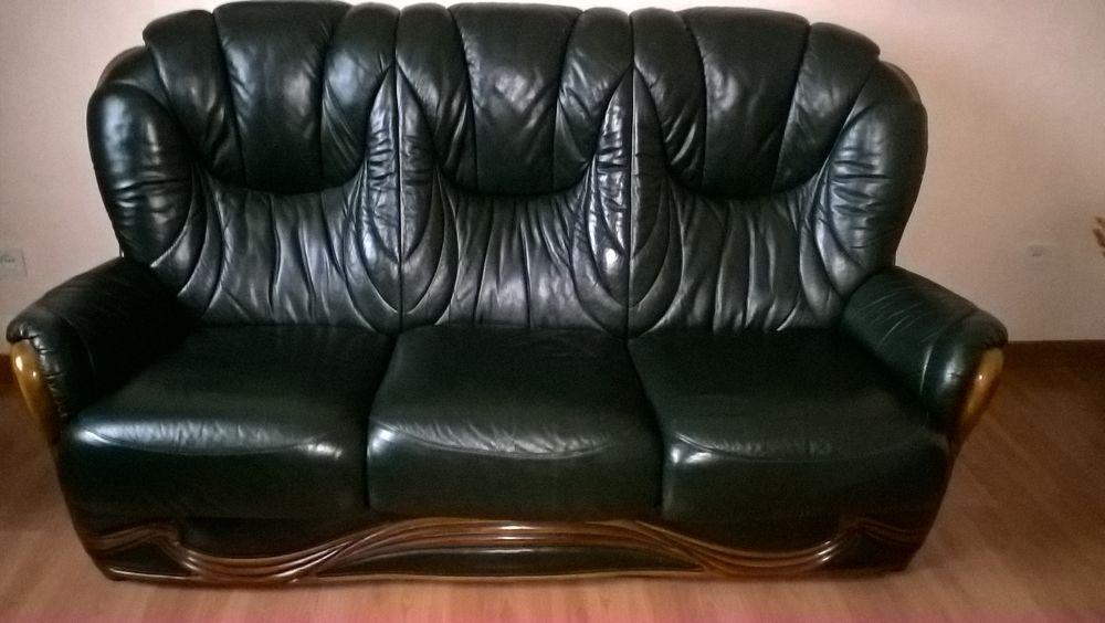 ensemble canapé + 2 fauteuils en cuir 350 Cheix-en-Retz (44)
