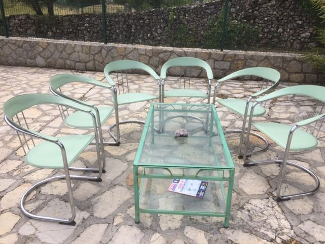 Ensemble 6 chaises plus tables basse 80 Privas (07)