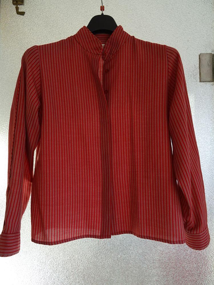 ENSEMBLE chemisier jupe laine rouge GÉRARD PASQUIER  40 Paris 14 (75)