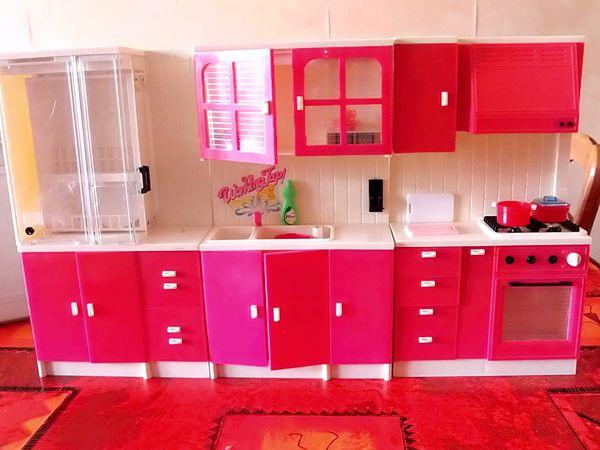 ensemble cuisine lit coiffeuse barbie jeux jouets - Cuisine Barbie