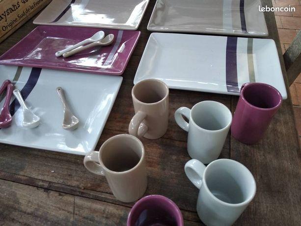 Ensemble a dessert café 6 pièces Bruneau 15 Montpellier (34)