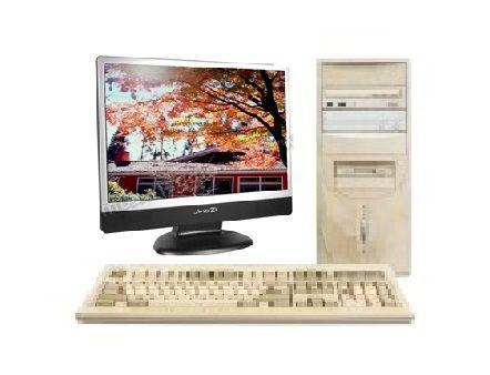 Ensemble PC + Ecran plat + souris + clavier 110 Nice (06)