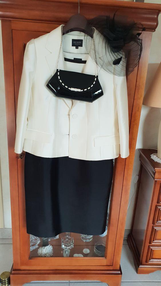 Ensemble habillé en soie et laine avec petit sac en cuir  0 Saint-Léonard (62)