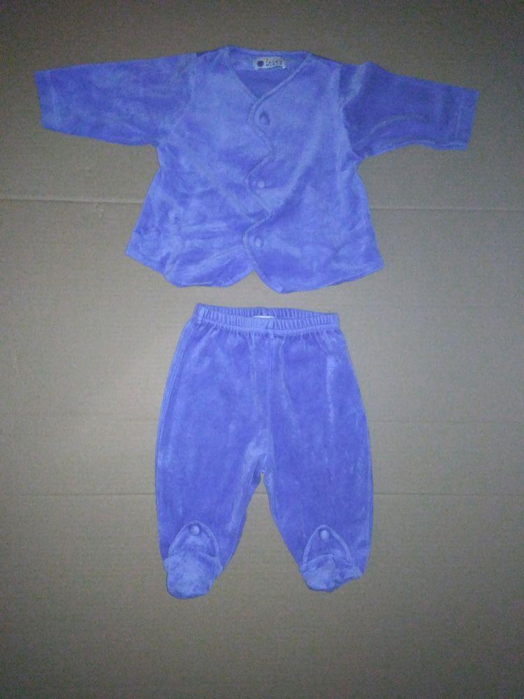 Ensemble KIDS MINIS  velours bleu 3 mois bleu 5 Semoy (45)
