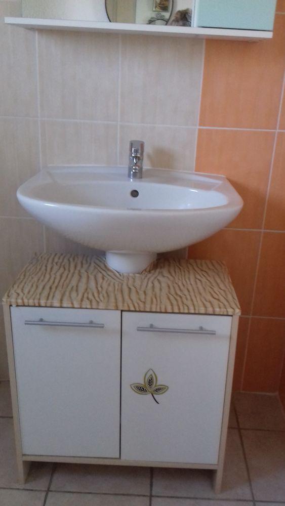 ensemble  Meuble lavabo  miroir et meuble sous lavabo 80 Trévol (03)