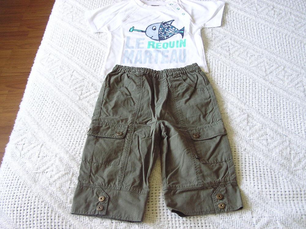 Ensemble d'été (pantalon + t-shirt), T. 12 mois Vêtements enfants