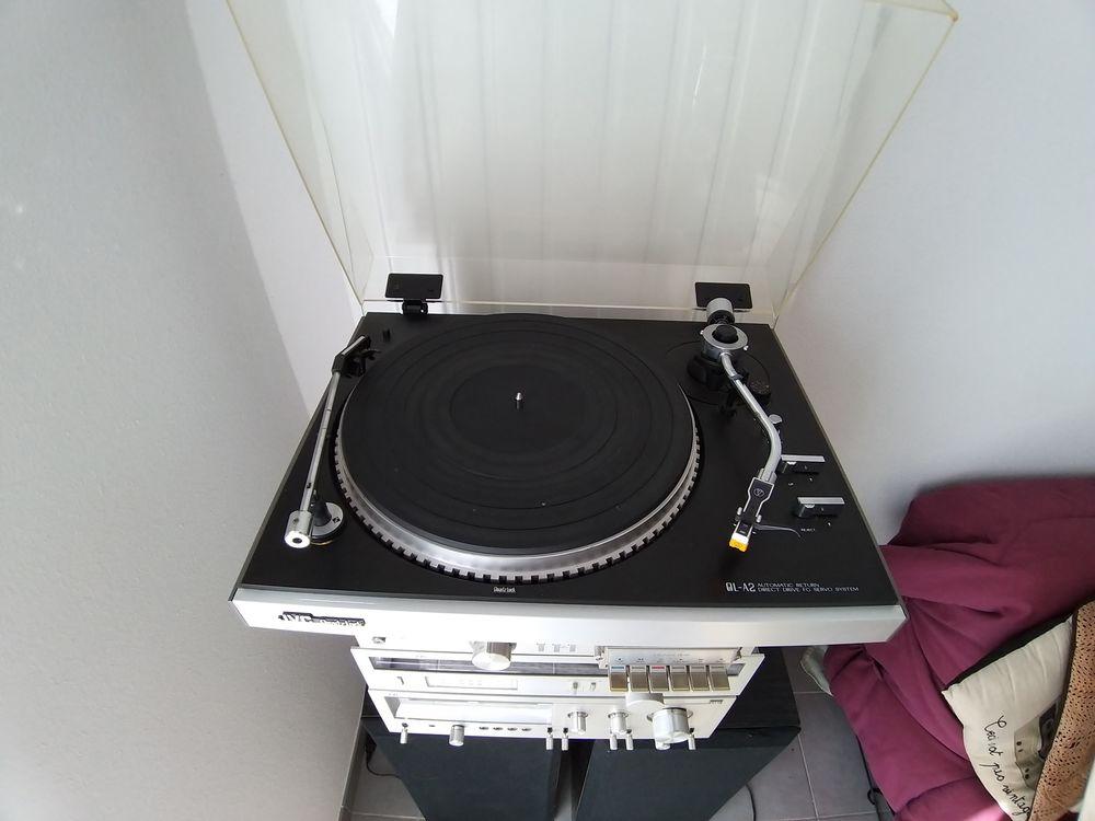 ensemble radio cassettes tourne disque  45 33 t avec HP 3A 0 Ondres (40)