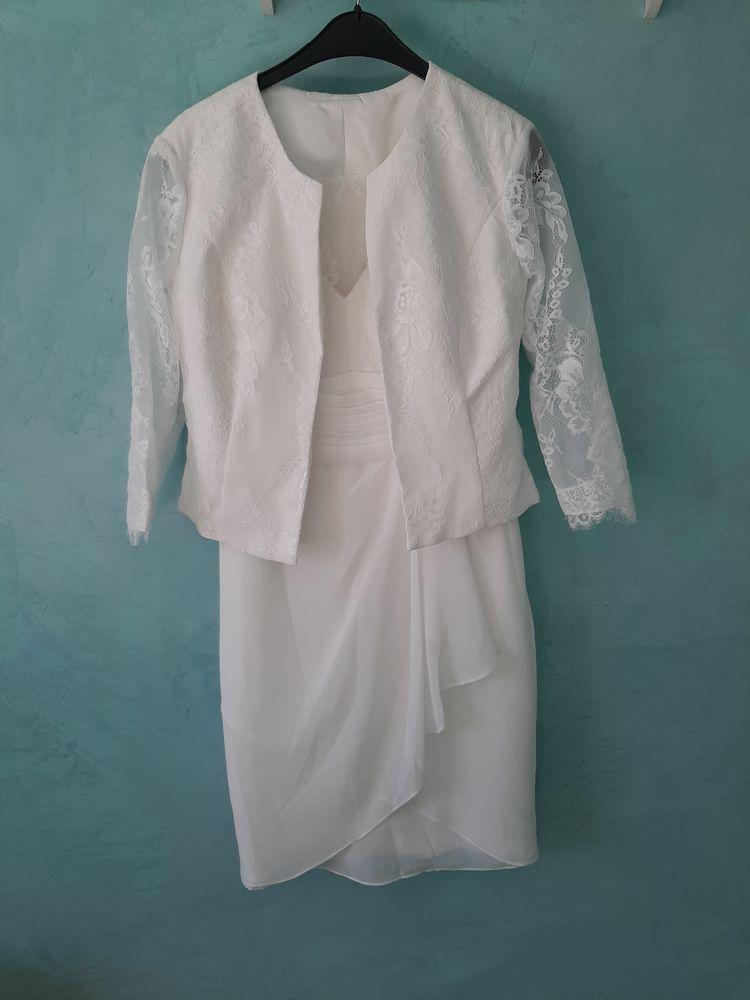 Ensemble robe + veste mariage 100 L'Escale (04)