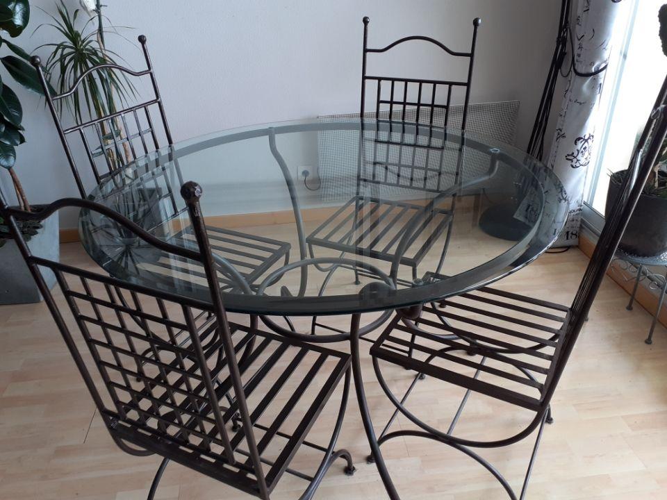 Ensemble Roche Bobois, table, chaises, console 450 La Baule-Escoublac (44)