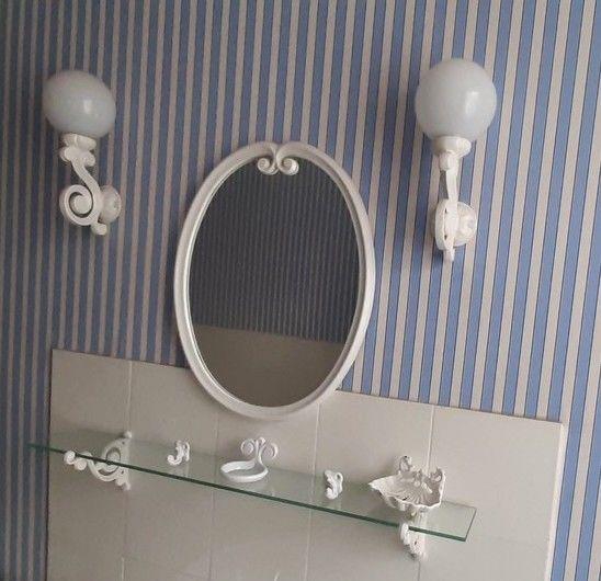 Ensemble salle de bain vintage en fonte émaillée blanche 180 Autun (71)