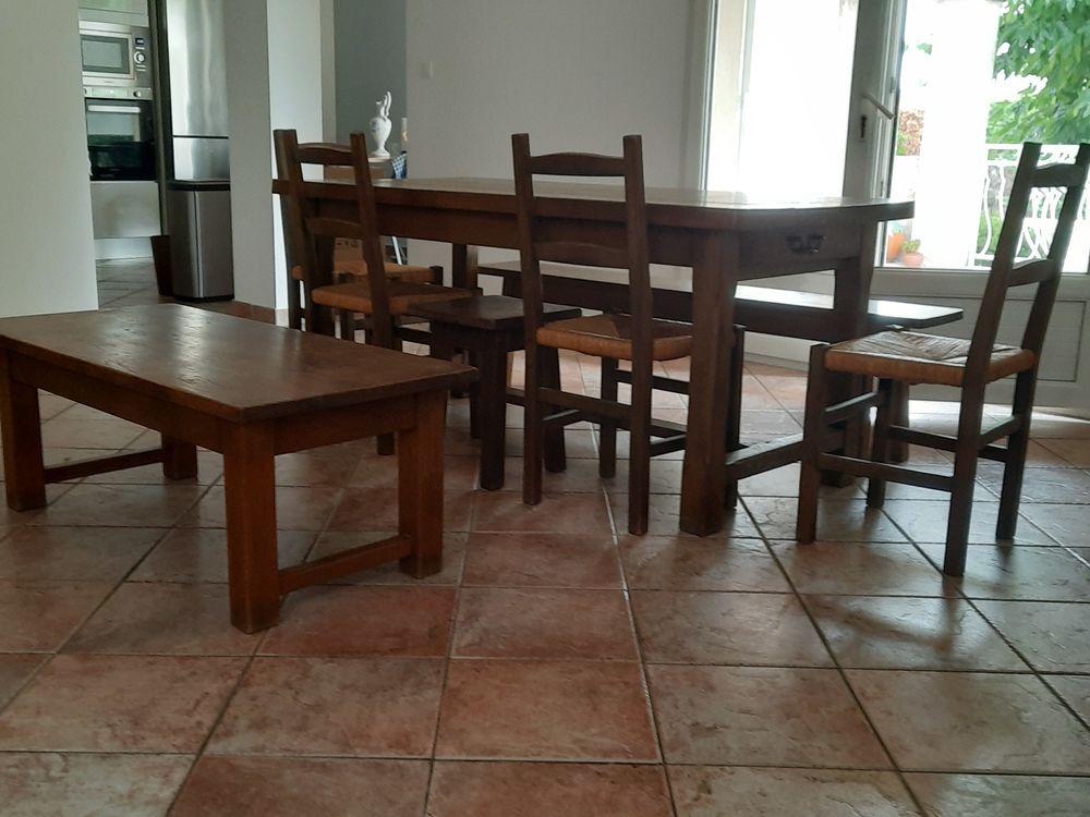 Ensemble salle à manger en chêne massif  500 La Ciotat (13)
