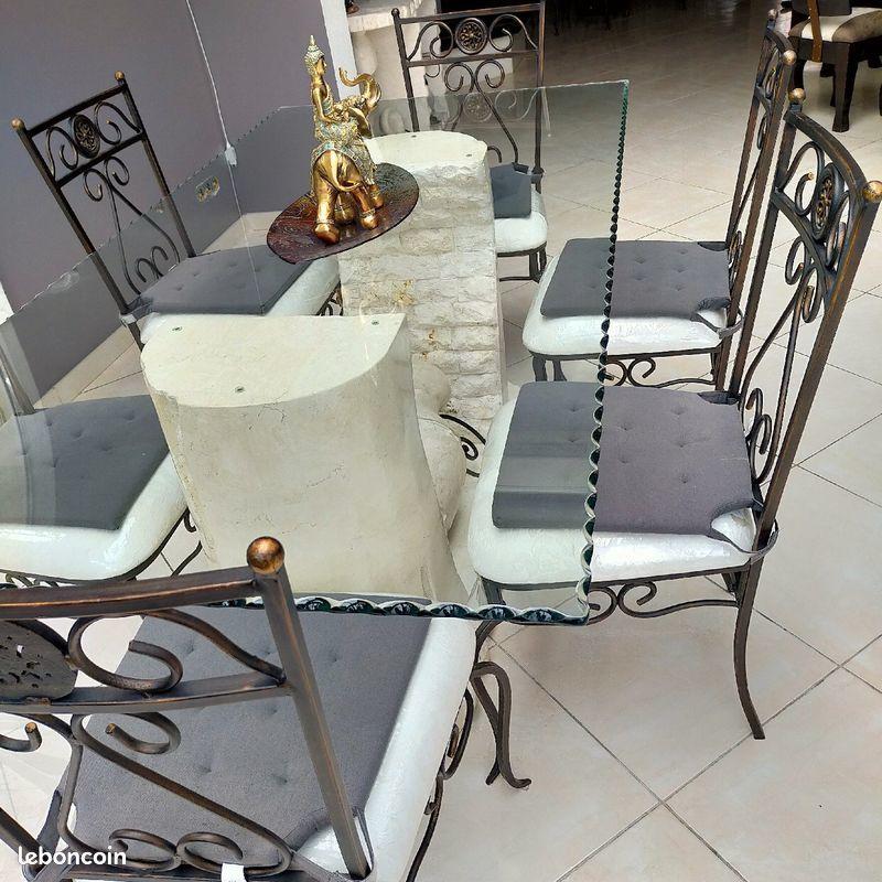 ENSEMBLE SEJOUR TABLE + CHAISES *6 700 Noisy-le-Sec (93)