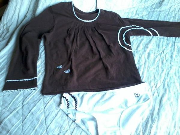 ensemble tee-shirt + culotte pour enfant 25 Saint-Sernin (07)