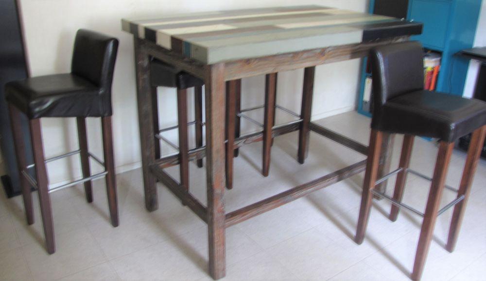 ENSEMBLE TABLE + CHAISES HAUTES   250 Châtenay-Malabry (92)