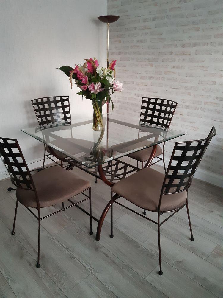 Ensemble table et 4 chaises 200 Versailles (78)