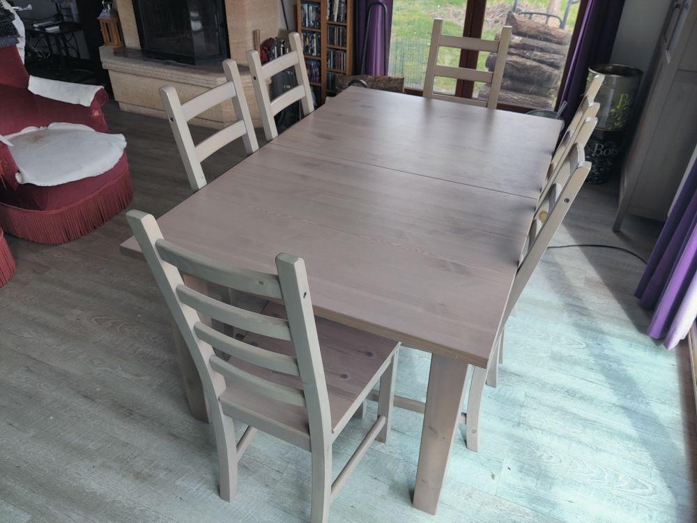 Ensemble table extensible   chaises assorties 300 Rambouillet (78)