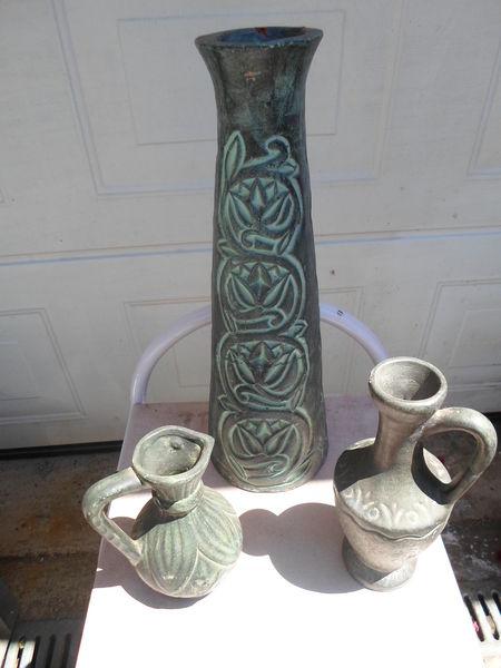 ensemble vase + pots gres 40 Amélie-les-Bains-Palalda (66)