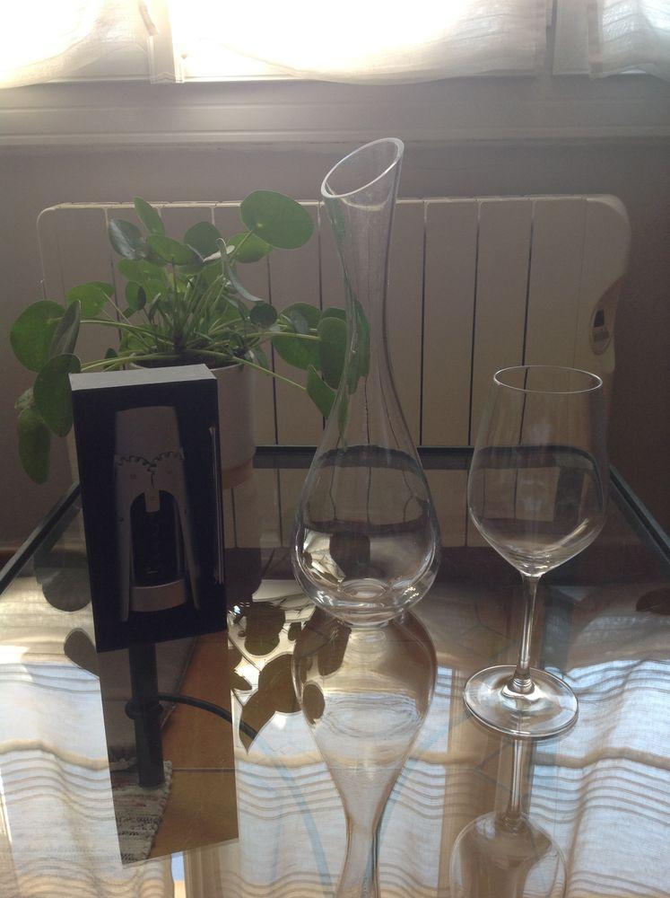 Ensemble De 6 verres à vin + carafe + tire bouchon Décoration