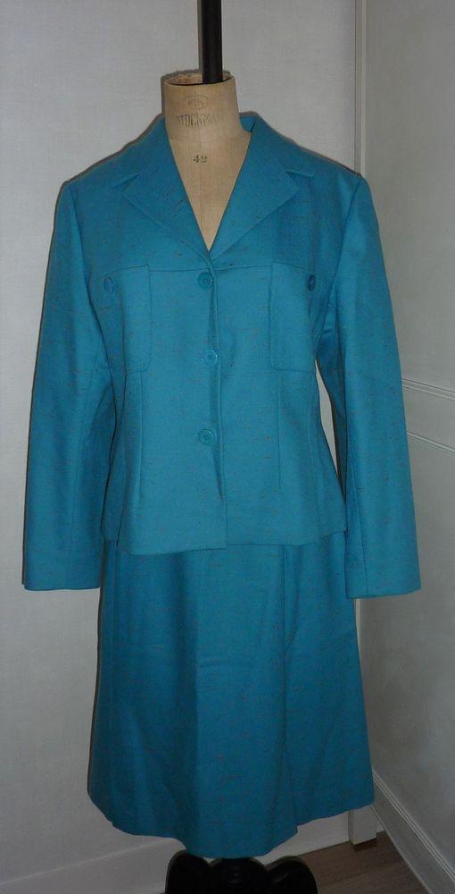 Ensemble veste et jupe Kenzo Jungle bleu turquoise taille 42 125 Orsay (91)